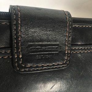 Coach Bags - Coach black leather wristlet brass twist lock